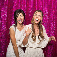 HOT PINK Sequin Taffeta Fabric Photography Backdrop, Sequin Photo Booth Backdrop, Sequin Drape - MADE IN USA - Select from 3 Sizes. (9ft x 10ft)