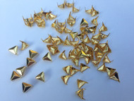 Pack of 100pcs 8MM GOLD Triangle Shape Metal Studs Punk Rock Rivets Spots Nailheads Fastners