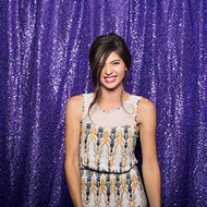 PURPLE Sequin Taffeta Fabric Photography Backdrop, Sequin Photo Booth Backdrop, Sequin Drape - MADE IN USA - Select from 3 Sizes. (9ft x 10ft)