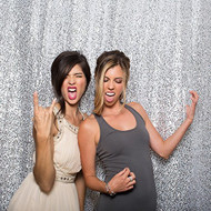 SILVER Sequin Taffeta Fabric Photography Backdrop, Sequin Photo Booth Backdrop, Sequin Drape - MADE IN USA - Select from 3 Sizes. (5ft x 9ft)