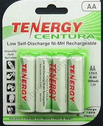 Tenergy Centura AA Ni-MH Rechargeable Batteries