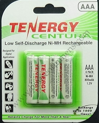Tenergy Centura AAA Ni-MH Rechargeable Batteries