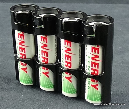 Storacell by Powerpax Slimline AA - Black - Battery Storage System