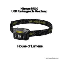 Nitecore NU30 USB Rechargeable Headlamp
