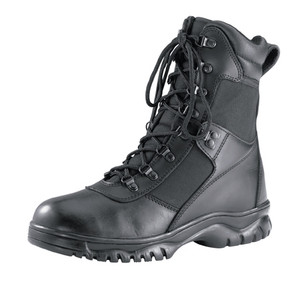 Rothco's Waterproof Force Entry Tactical Boots Feature A Waterproof Leather And Nylon Upper Leather Collar, Steel Shank, Gusseted Tongue, Slip-Resistant Cup Sole, Rust-Proof Hardware Speed Lace Eyelets And A Moisture-Wicking Lining. Rothco's Tactical Boots Are Available In Sizes 4 To 15 (Including 1/2 Sizes Up To 10 1/2)