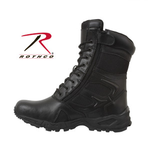 Forced Entry Black 8 inch Side Zipper Deployment Boots