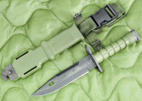"Ontario M-9 ""Combat"" Commercial Bayonet with Scabbard - USA Made"