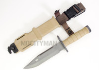 Lan-Cay M9 Bayonet with Scabbard - Tan 10th Mountain Division Commemorative 2004 Model - USA Made (10797)