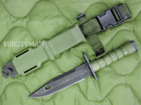 "Ontario M-9 ""Combat"" Commercial Bayonet with Scabbard - Nice - USA Made (12978)"