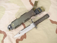Phrobis M9 Bayonet with Scabbard - 4 Line Narrow Font - USA Made (13917)