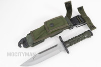 Phrobis III M9 Buck 188 Bayonet with Scabbard - 1990 - USA Made (14217)