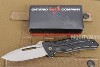 Ontario XM-12 Prototype Folding Knife Tactical - Open Back Spline - Made in Italy - NEW (14402)