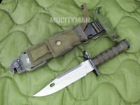 Phrobis M9 Bayonet with Scabbard - 4 Line - Complete - USA Made (13411)