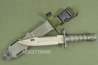 LanCay M9 Bayonet with Scabbard - Uncommon Rare Early Model 1994 - Unissued - Genuine Military - USA Made (14477)