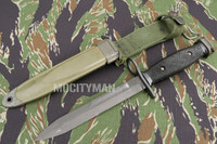 BOC M7 Bayonet with M8A1 PWH Scabbard - Genuine Military - USA Made (14305)