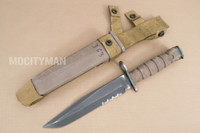 Ontario USMC OKC-3S Bayonet with Scabbard - Genuine Military - USA Made (15631)