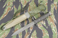 Conetta M7 Bayonet with M8A1 PWH Scabbard - Genuine Military - USA Made (15976)