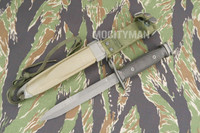 Conetta M7 Bayonet with M8A1 PWH Scabbard - Genuine Military - USA Made (15986)