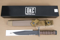 Ontario USMC OKC-3S Presentation Bayonet with Scabbard  - NEW - USA Made (15860)