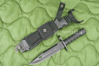 Phrobis III M9 Buck 188 Black Bayonet with Scabbard - 1989 - USA Made (16381)