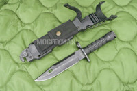 Phrobis III M9 Buck 188 Black Bayonet with Scabbard - 1989 - USA Made (16366)