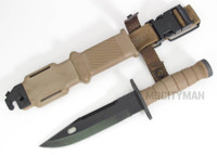 Ontario M-11 EOD Tan Knife with Scabbard - Model 1982 - New - USA Made