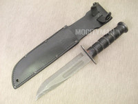 USMC MSI Mk2 Mark 2 Combat Knife Ka-Bar with Leather Sheath - Genuine Military - USA Made (13719)
