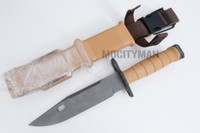 Lan-Cay M9 Bayonet with Scabbard - Tan Airborne Commemorative 2003 Model - USA Made (17324)