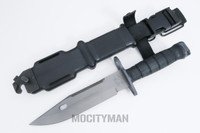 Lan-Cay M9 Bayonet with Scabbard - Black Airborne Commemorative 2007 Model - USA Made (17310)