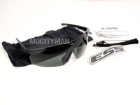ESS ICE Ballistic Eyeshield Glasses Kit - Unit Issue - Smoke Gray - NEW - USA Made (11836)