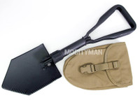 Ames Entrenching E Tool Shovel and Coyote Carrier - Genuine Military - NEW - USA Made