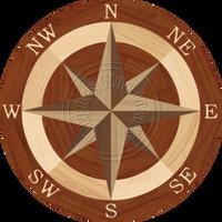 """Sea Compass North Full (Braz Cherry) 36"""""""