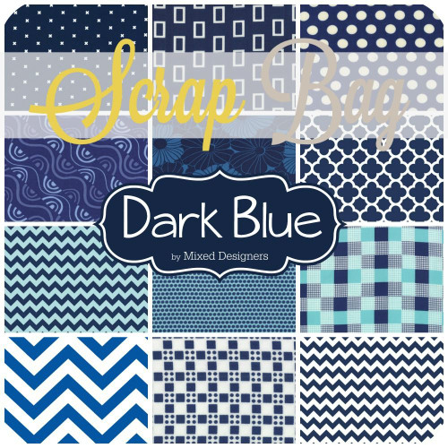 Navy Blue Scrap Bag (approx 2 yards) by Mixed Designers for Southern Fabric (DBL.SB)