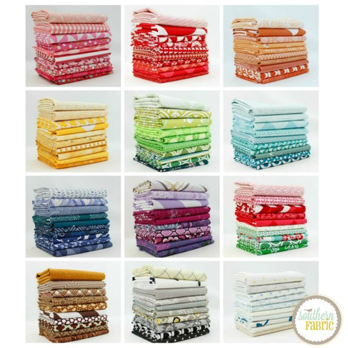 Complete Colors Half Yard Bundle (120 pcs) by Mixed Designers for Southern Fabric (CO.CC.120HY)