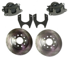 Weld On Rear Disc Brake Kit with GM Metric Iron Calipers