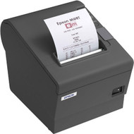 Epson TM-T88V Direct Thermal Receipt Printer, Dark Gray, USB