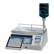 CAS LP-1000NP Thermal Label Printing Scale 30lb /Pole Display Included
