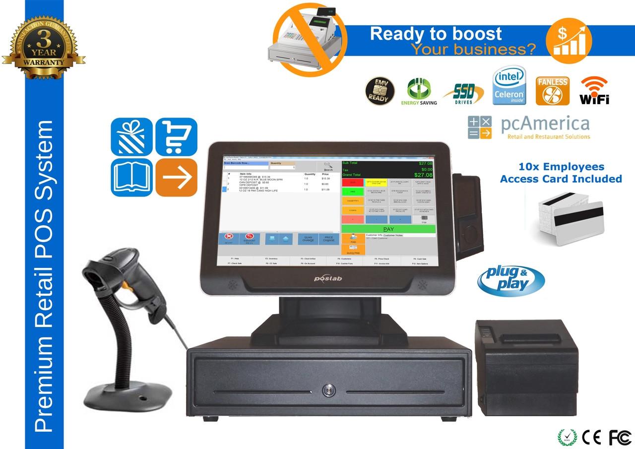 Premium Liquor Store Pos System With Vfd Customer Display