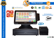 Premium Quick Service Complete POS System With VFD Customer Display