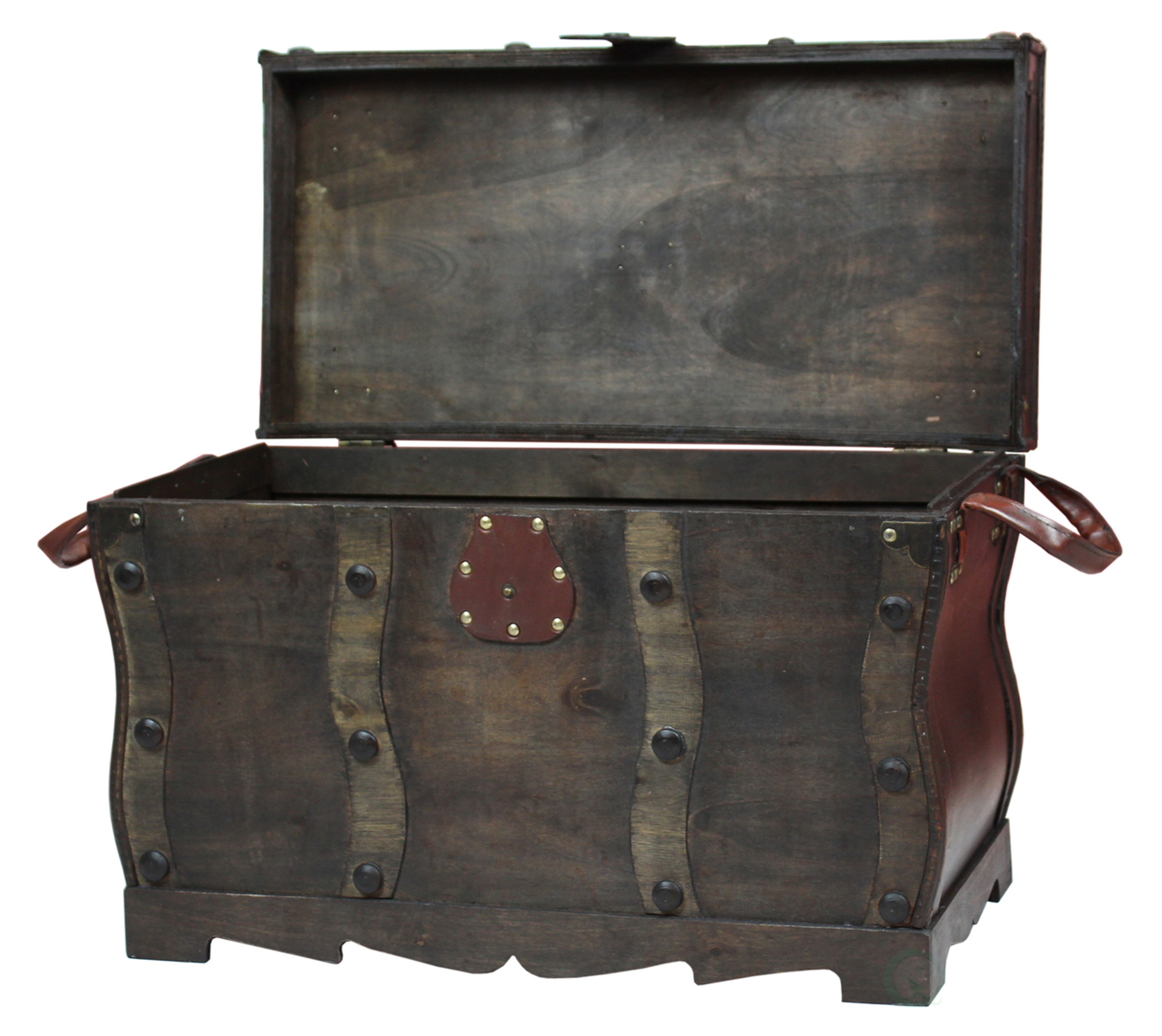 Exceptional ... Antique Style Distressed Wooden Pirate Treasure Chest, Coffee Table  Trunk ...