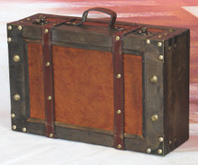 Old Style Suitcase With Straps