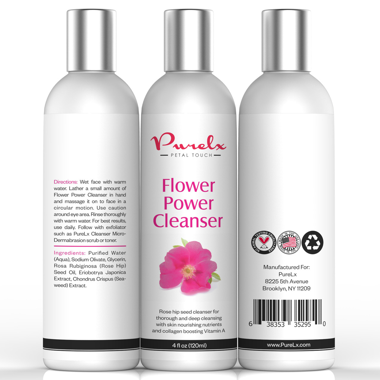 Flower Power Cleanser is rich in Vitamins A, C E and F which contribute in nourishing the skin and boosting collagen production helping firm up the skin and keep it looking younger.
