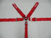 White Safety Cam Lock Seat Belts