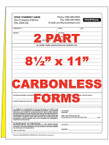 2 Part Custom Carbonless NCR Forms - From $28