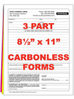 3 Part Custom Carbonless NCR Forms - From $40