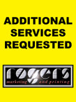 ADDITIONAL SERVICES REQUESTED