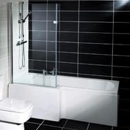 1700mm x 700mm  Halle L Shaped Left Hand Bath