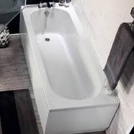 1700mm x 700mm Delph Single End Straight Round Style Bath
