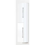 300mm Idon Gloss White Wall Hung 2 Door Tall Storage Unit