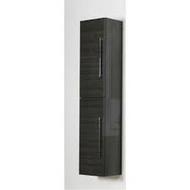 300mm Idon Black Wall Hung 2 Door Storage Unit